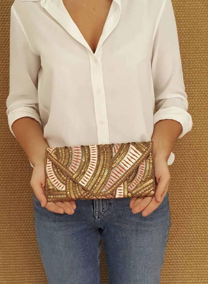 Gold Pearl Clutch - art of shop  - 3