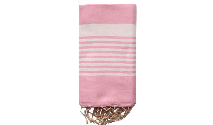 Fouta Traditional – Light pink zebra - art of shop