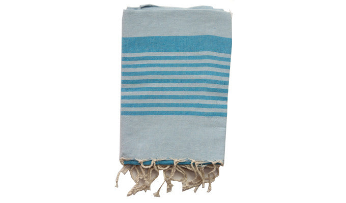 Fouta Traditional – Turquoise Reverso zebra - art of shop