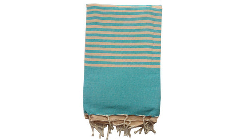 Fouta Traditional – Turquoise zebra - art of shop