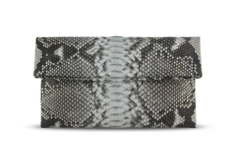 Natural Leon Python Mini Clutch