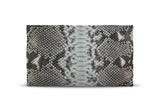 Henri Large Python Clutch Natural