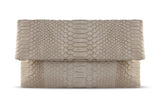 Light Pink Leon Python Small Clutch