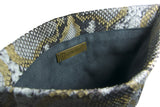 Gold Leon Python Mini Clutch