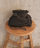 Black Marcel Python Gun Chains Shoulder Bag - art of shop  - 4