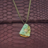 Green jade Necklace - art of shop  - 2