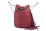 Red Paul Python Fringed Bucket Bag - art of shop  - 6