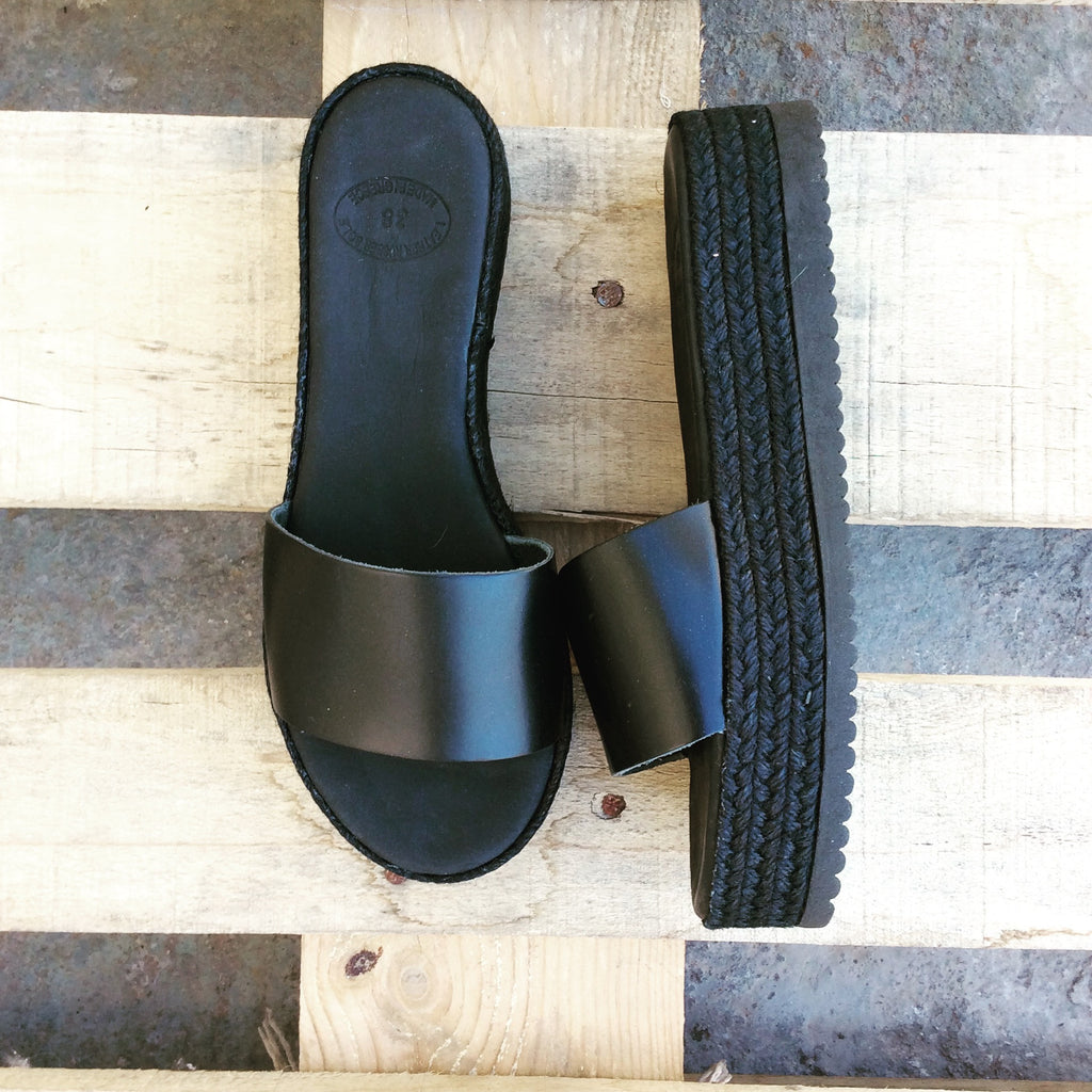 Black Espadrille Slip on