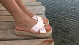 X Strap Espadrille Pink Gold - art of shop  - 1