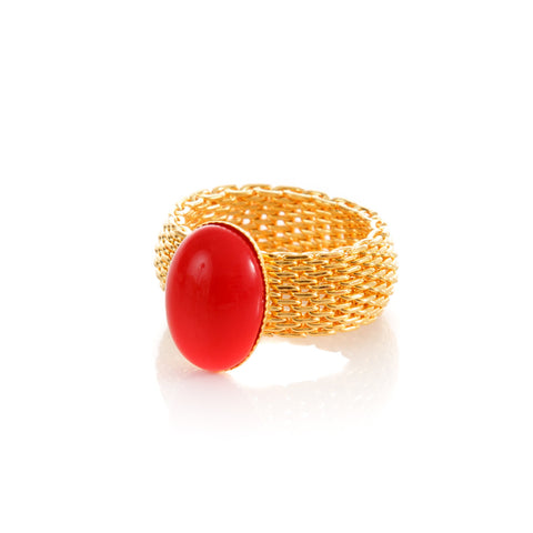 SHANTA Ring Red Agate