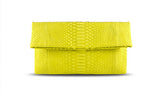 Yellow Leon Python Mini Clutch