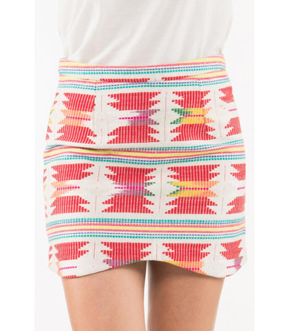 AZTEC DENTED SKIRT - art of shop