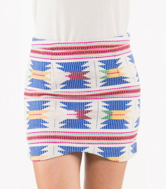 AZTEC DENTED SKIRT - art of shop  - 1
