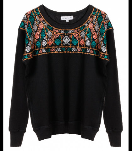 EMBROIDERED FLEECE JUMPER - art of shop