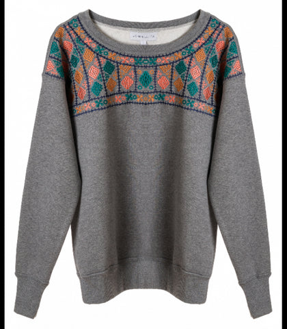 EMBROIDERED FLEECE JUMPER - art of shop  - 1