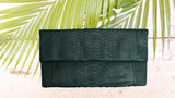 Dark Green Henri Python Large Clutch - art of shop  - 5