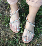 Full Crystal Sandals - white bridal - art of shop  - 3