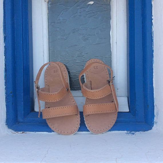 Kids Platform Greek Sandals