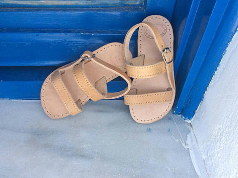 Kids Leather Ancient Greek Sandals