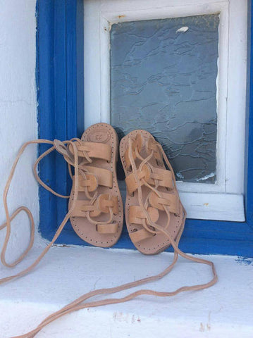 Kids Tie Up Sandals