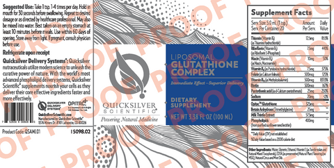 Liposomal Glutathione Complex by Quicksilver Scientific