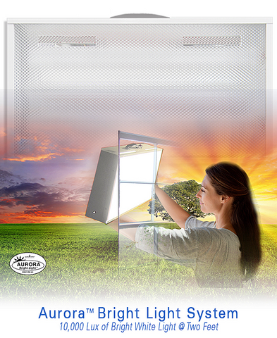 Aurora 10.000 lux Full Spectrum Bright Light Therapy Light box