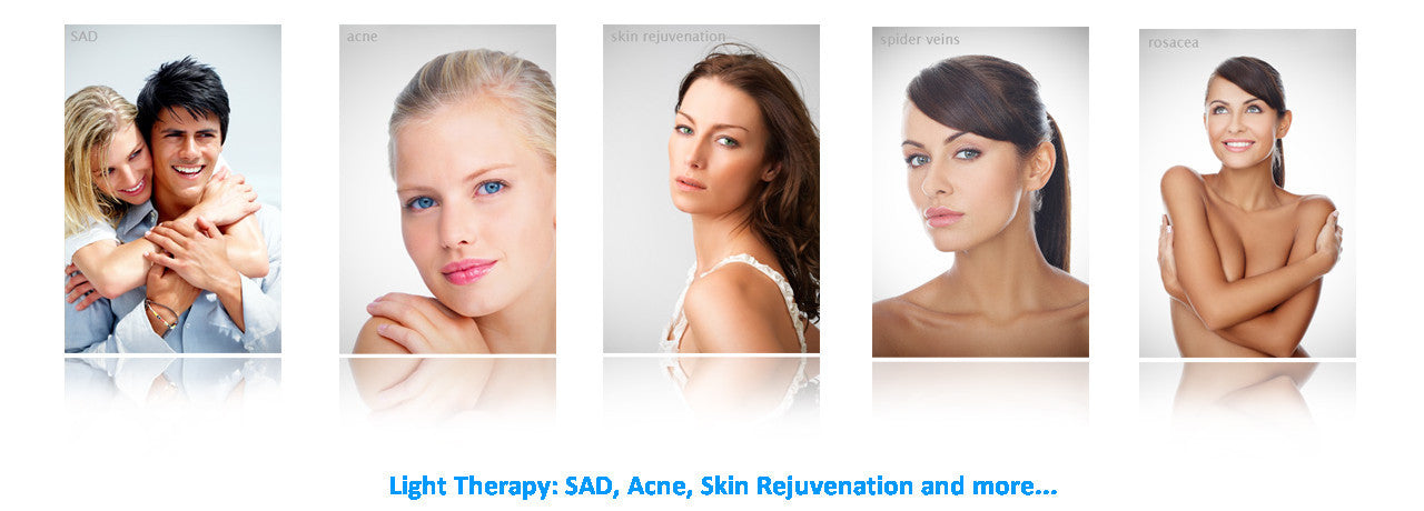 sad, acne, light, skin care, skin rejuvenation, pain relief