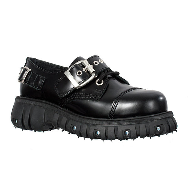 Black Leather Buckle Shoe 2.0