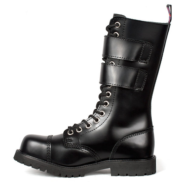 NEVERMIND Buckle Strap Combat Boots