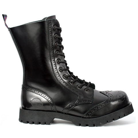 NEVERMIND 10-Eye Wingtip Combat Boots