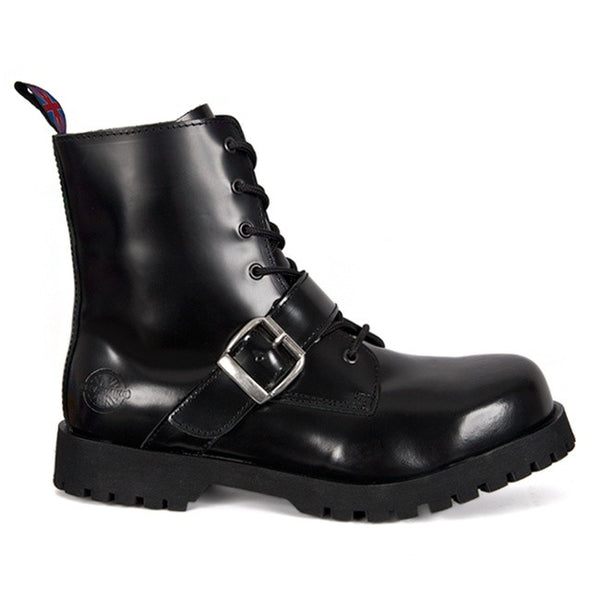 NEVERMIND 7-Eye Buckle Strap Boots