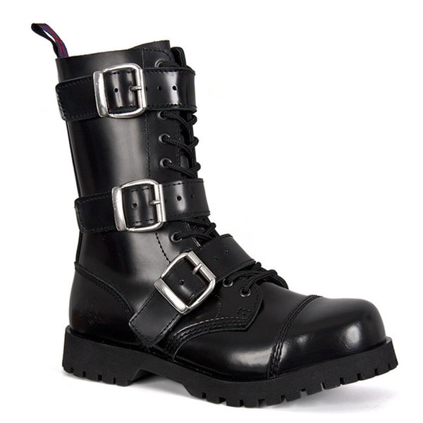 NEVERMIND 3-Buckle Combat Boots
