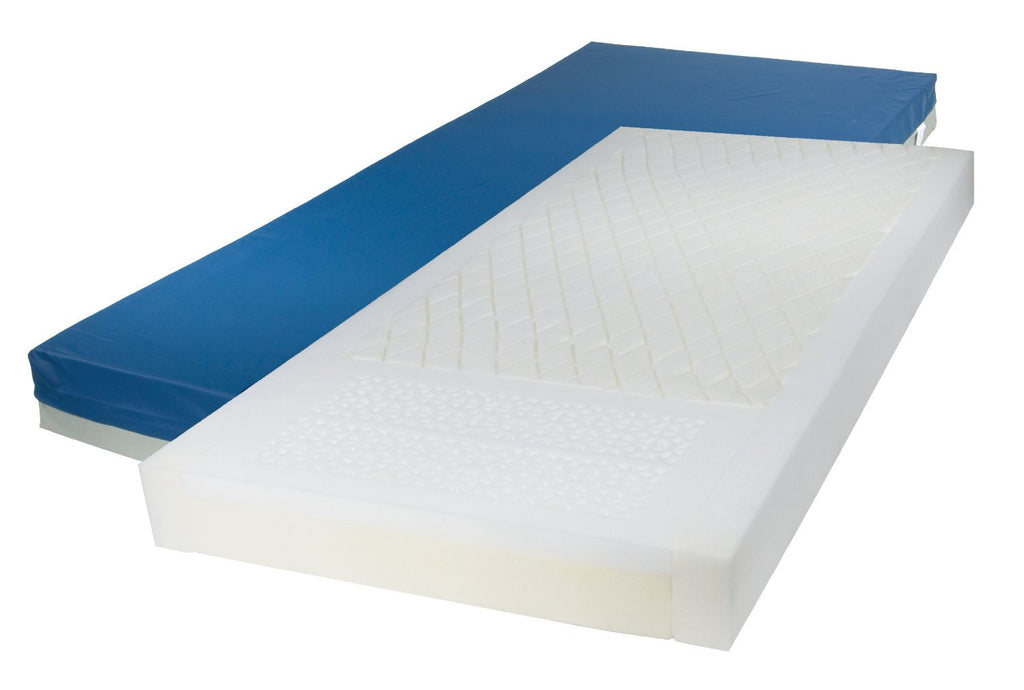 "Drive Medical 15770 Gravity 7 Long Term Care Pressure Redistribution Mattress, 80"", Blue - EZMEDx Medical Supply"