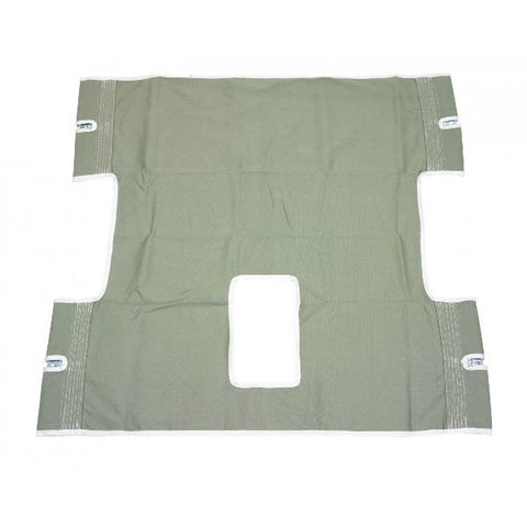 Bariatric Heavy Duty Canvas Sling with Commode Cutout- EZMEDX Medical Supply