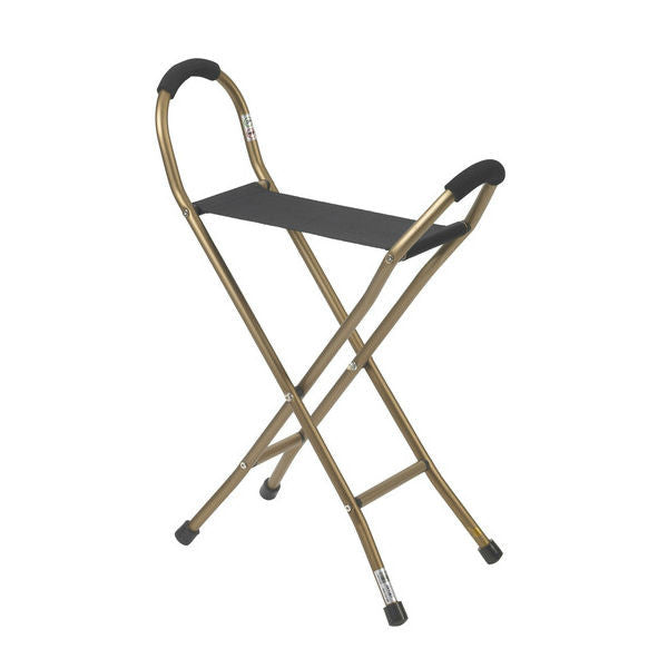 Folding Lightweight Cane with Sling Style Seat- EZMEDX Medical Supply