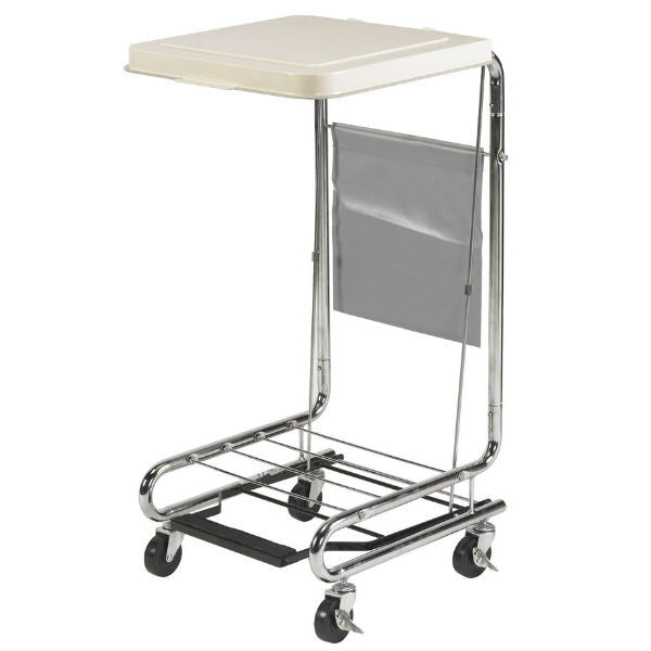 Hamper Stand with Poly Coated Steel - EZMEDx Medical Supply