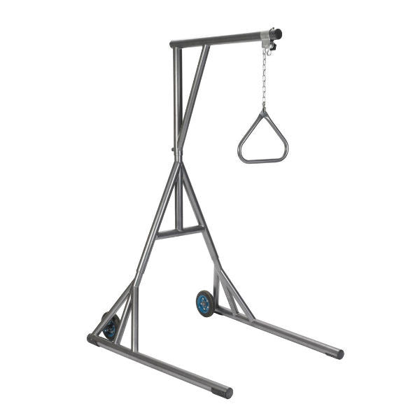 Heavy Duty Trapeze with Base and Wheels, Silver Vein - EZMEDx Medical Supply