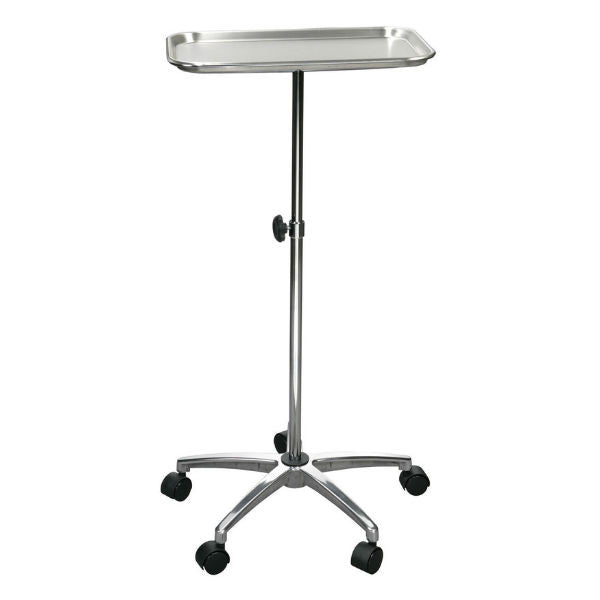 "Mayo Instrument Stand with Mobile 5"" Caster Base - EZMEDx Medical Supply"
