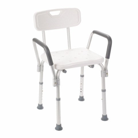 Bath Bench with Padded Arms and Backrest - EZMEDx Medical Supply