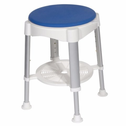 Bath Stool with Padded Rotating Seat - EZMEDx Medical Supply