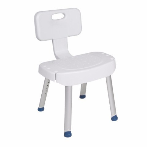 Bathroom Safety Shower Chair with Folding Back - EZMEDx Medical Supply