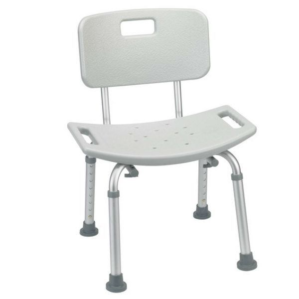 Bathroom Safety Shower Tub Bench Chair with Back - EZMEDx Medical Supply