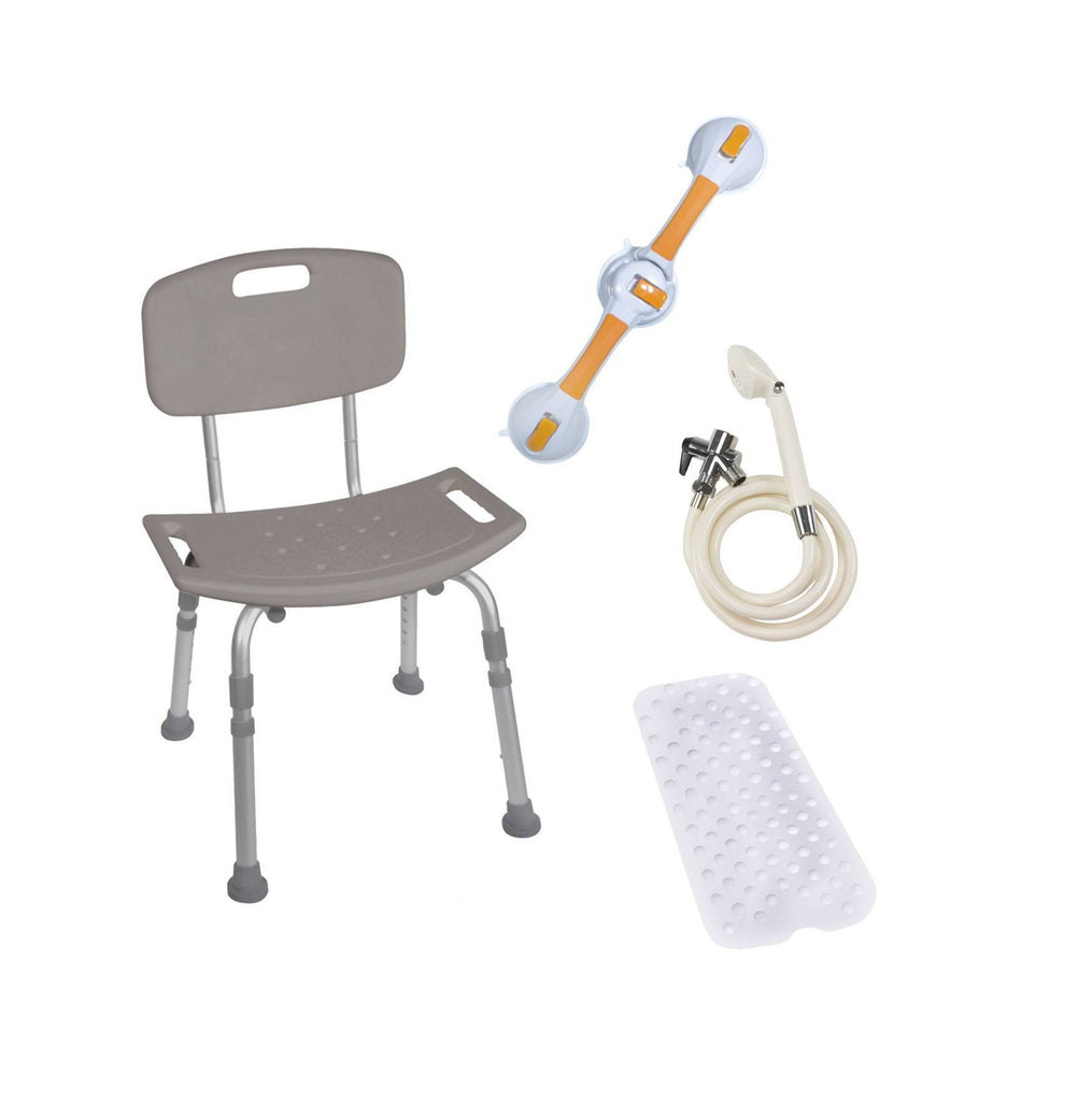 Shower Tub Chair Bathroom Safety Bundle - EZMEDx Medical Supply