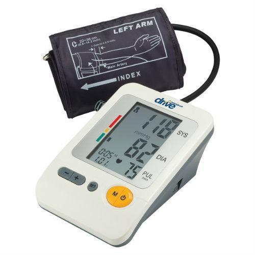 Deluxe Automatic Upper Arm Blood Pressure Cuff, Monitor - EZMEDx Medical Supply  - 1