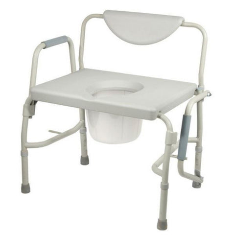 Bariatric Drop Arm Bedside Commode Chair - EZMEDx Medical Supply