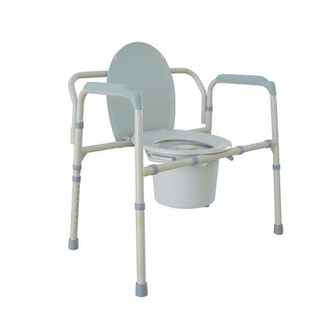 Heavy Duty Bariatric Folding Bedside Commode Seat - EZMEDx Medical Supply