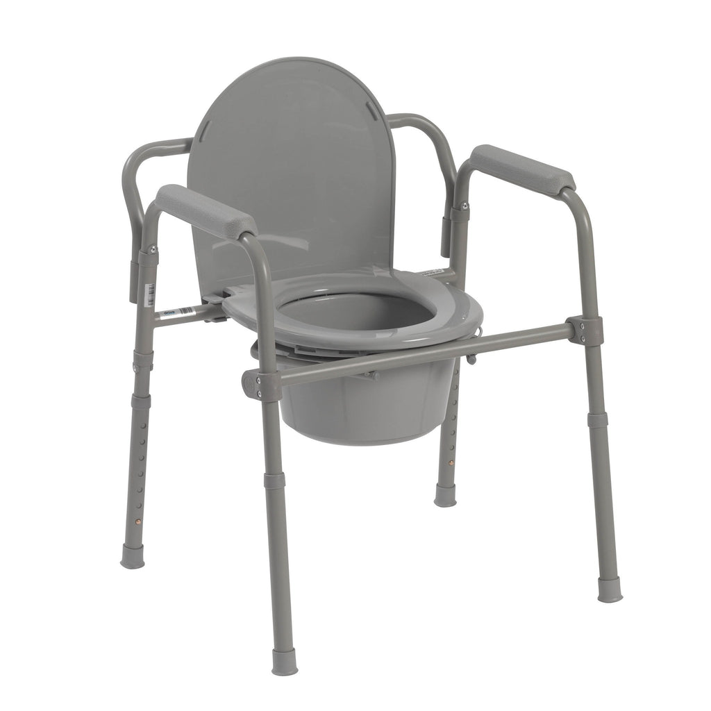 Steel Folding Bedside Commode - EZMEDx Medical Supply