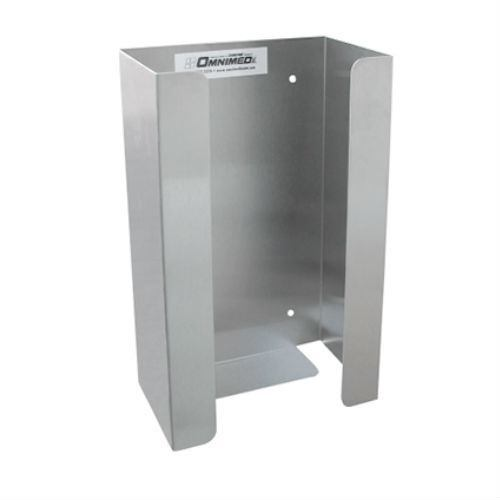 Glove Box Dispenser- Single, Stainless Steel (2 pack) - EZMEDx Medical Supply