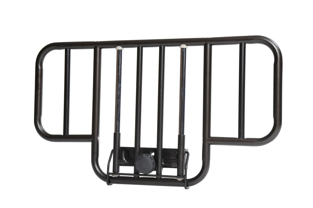 No Gap Half Length Side Bed Rails with Brown Vein Finish, 1 Pair - EZMEDx Medical Supply