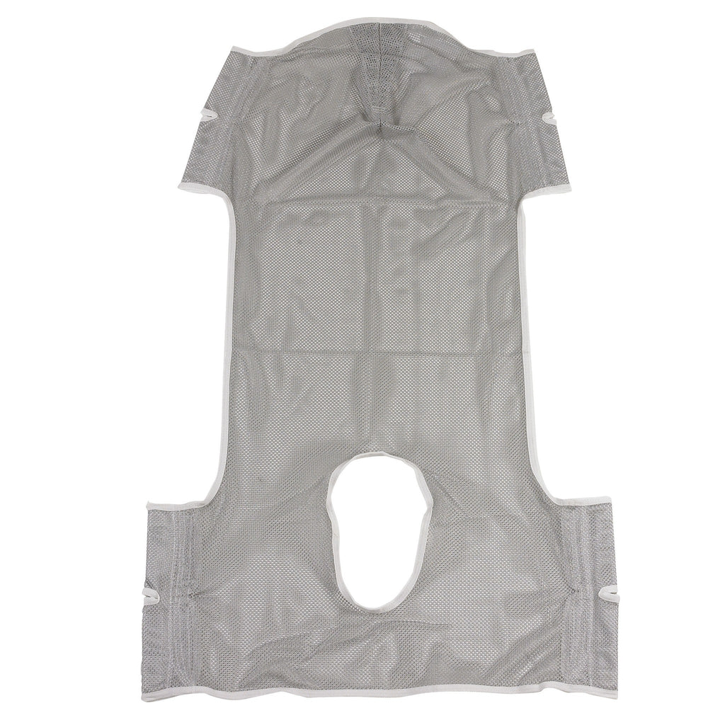 Patient Lift Commode Sling with Head Support, Dacron - EZMEDx Medical Supply